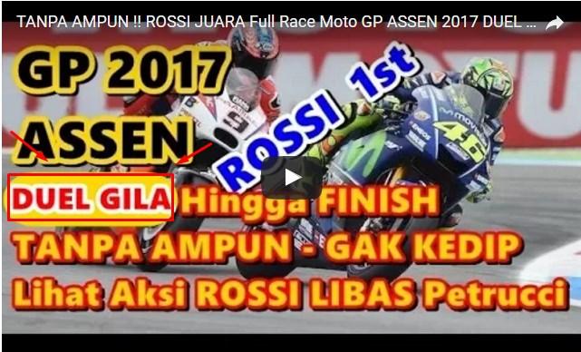 """TANPA AMPUN !!! ROSSI JUARA FULL RACE """"Moto GP ASEAN 2017 DUEL BRUTAL ROSSI VS PETRUCCI hingga FINISH"""